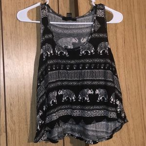Forever 21 elephant crop tank top